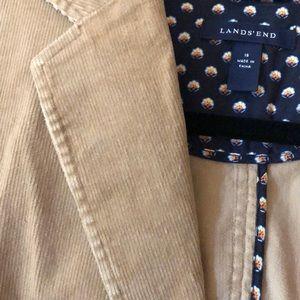 Lands' End Jackets & Coats - Lands End Corduroy Beige Blazer